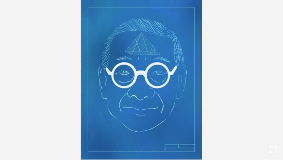 """El arquitecto I.M. Pei a menudo dibujaba de noche en completa oscuridad, conceptualizando las estructuras en su mente antes de poner sus ideas en el papel. Crédito: """"Recipes for Good Luck"""", por Ellen Weinstein, publicado por Chronicle Books 2018)."""