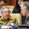 Cuban President Raul Castro (L) talks with first Vice President Miguel Diaz-Canel during the year-end parliamentary session at the Convention Palace in Havana, on December 21, 2017. Cuban President Raul Castro will step down in April 2018 straight after elections that same month to choose his successor, according to a vote Thursday in the island state's National Assembly. / AFP PHOTO / Jaime Blez (Photo credit should read JAIME BLEZ/AFP/Getty Images)