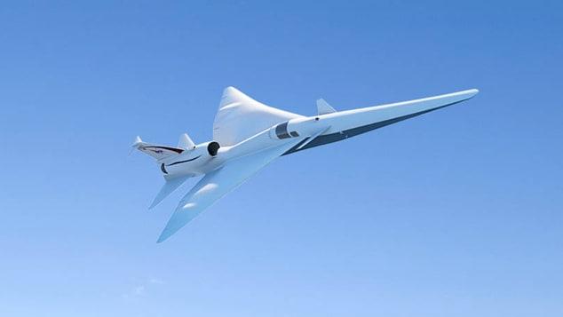 El avión se basa en un diseño preliminar desarrollado por la compañía aeroespacial Lockheed Martin. (Crédito: Cortesía de la NASA)