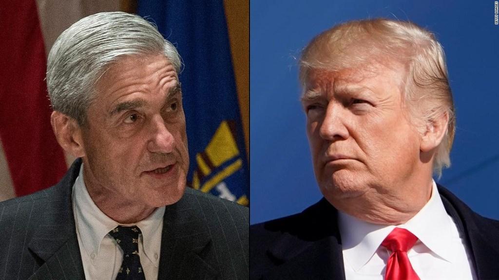 Fiscal especial Robert Mueller y presidente de EE.UU. Donald Trump