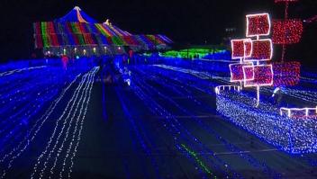 Festival de Luces en China conmemora el Día del Trabajo