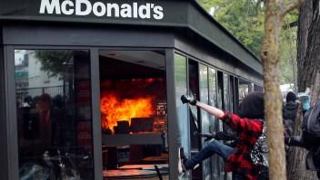 Manifestación en Francia termina en violencia