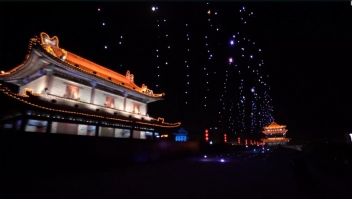 Impresionante espectáculo de drones en China