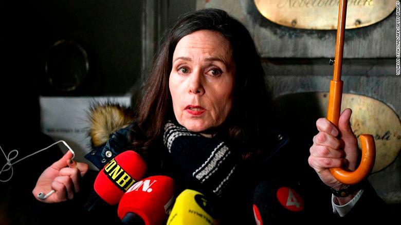 Hablando el 23 de noviembre de 2017, Sara Danius dijo a los medios que la Academia había cortado los lazos con Arnault. (Crédito: VILHELM STOKSTAD/AFP/Getty Images)