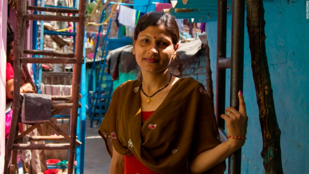 Lalita Gola, 39, ama de casa en el suburbio de Laxmi Nagar