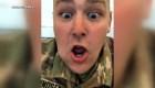 Un soldado ve el nacimiento de su hija por FaceTime