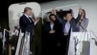 Así es la llegada de estadounidendes liberados en Corea del Norte
