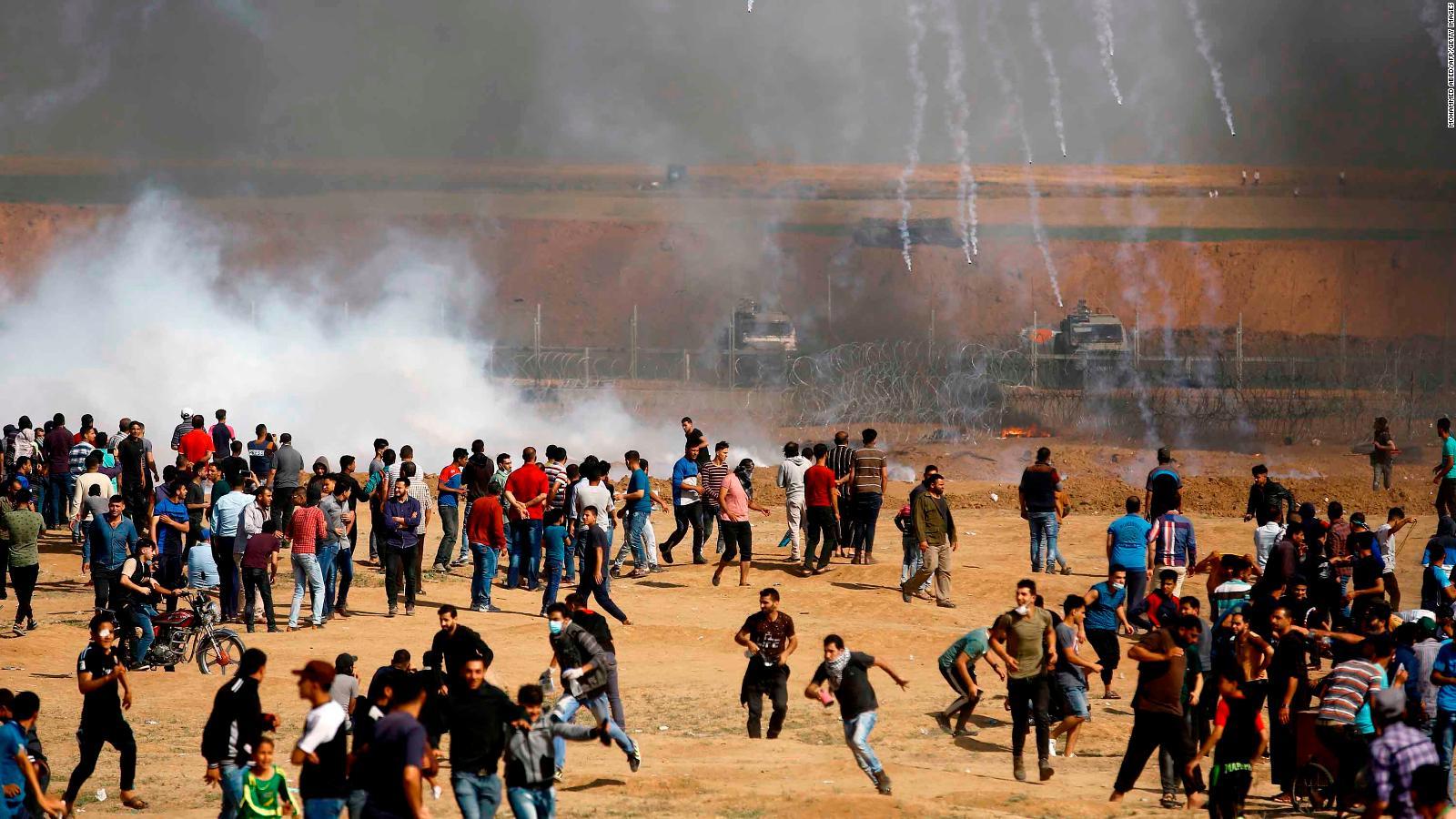 Protestas en Gaza por apertura de embajada de EE.UU. en Jerusalén