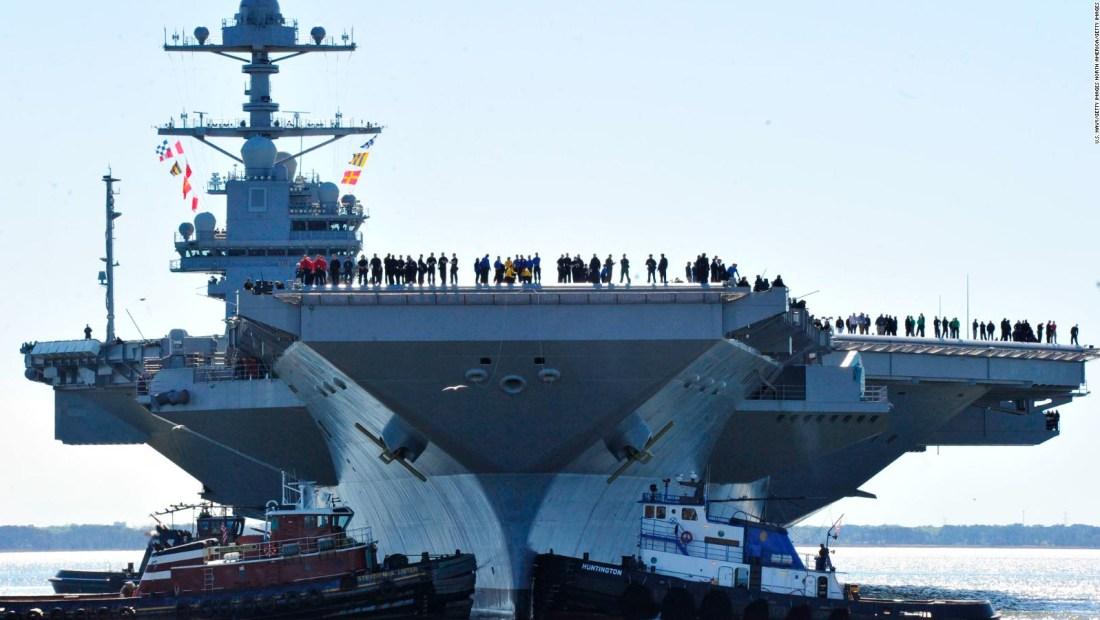 ¿Cuánto cuesta el portaaviones más caro de EE.UU.?