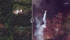 #LaImagenDelDía: antes y después de la erupción del Kilauea