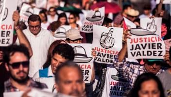 Protestas a un año del asesinato del periodista Javier Valdez