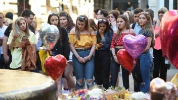 Homenaje a las víctimas del atentado de Manchester