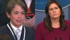 La pregunta de un pequeño reportero en la Casa Blanca