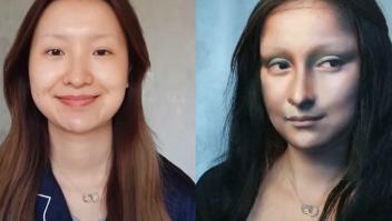 Youtuber imita a la Mona Lisa con maquillaje