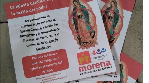 Supuestos folletos electorales contra la virgen de Guadalupe en México