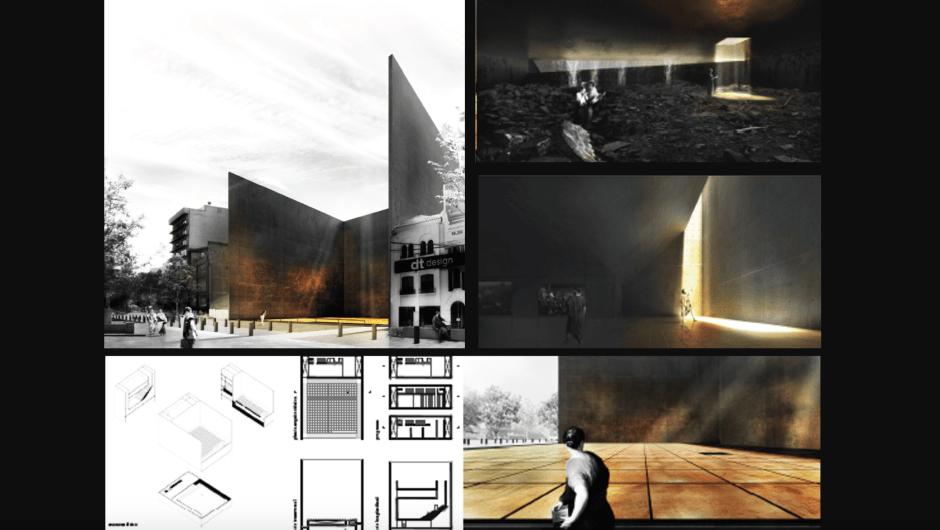 Propuesta ganadora para el homenaje a los muertos en el terremoto del 19 de septiembre en México. Del arquitecto Martin L. Gutiérrez Guzmán