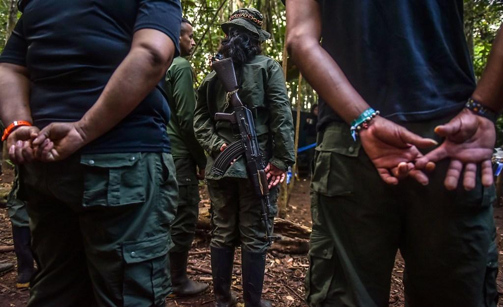 Imagen de archivo de la guerrilla de las Farc. (crédito: LUIS ACOSTA/AFP/Getty Images)