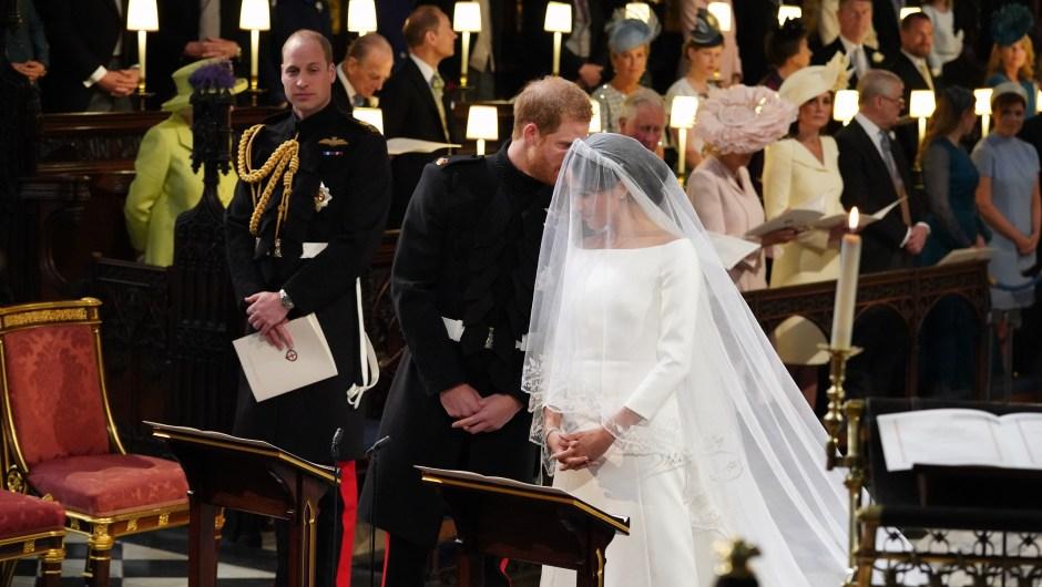 Complicidad de los novios durante la ceremonia. (Crédito: JONATHAN BRADY/AFP/Getty Images)
