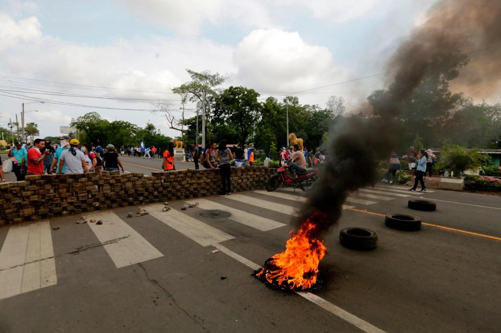 Barricada en las manifestaciones en Nicaragua. (Crédito: INTI OCON/AFP/Getty Images)