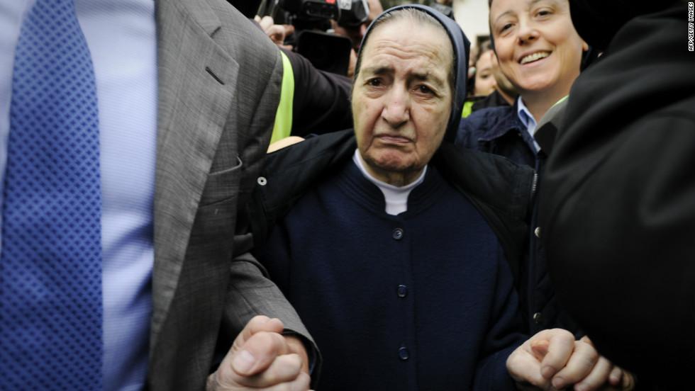 La fallecida Sor María Gómez en una audiencia judicial en Madrid.