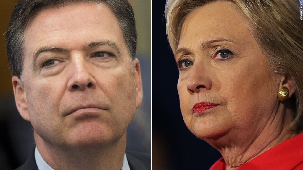 James Comey y Hillary Clinton