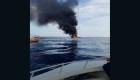 Angustioso rescate en llamas en las costas de Fort Lauderdale