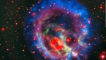 #LaImagenDelDía: la primera estrella de neutrones captada fuera de la Vía láctea