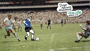 ¿Es este gol de Maradona el mejor de los Mundiales?