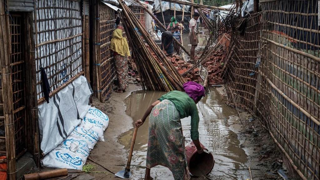 Unos 200.000 refugiados rohinyás en peligro por mal tiempo