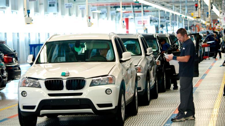 Fábrica de BMW en Estados Unidos. (Crédito: Nanine Hartzenbusch/For the Washington Post)
