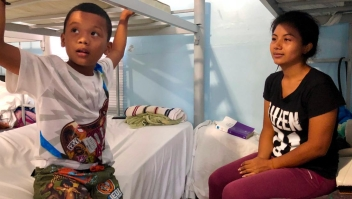 Niños en el refugio Senda de Vida, en México, antes de cruzar a Estados Unidos.