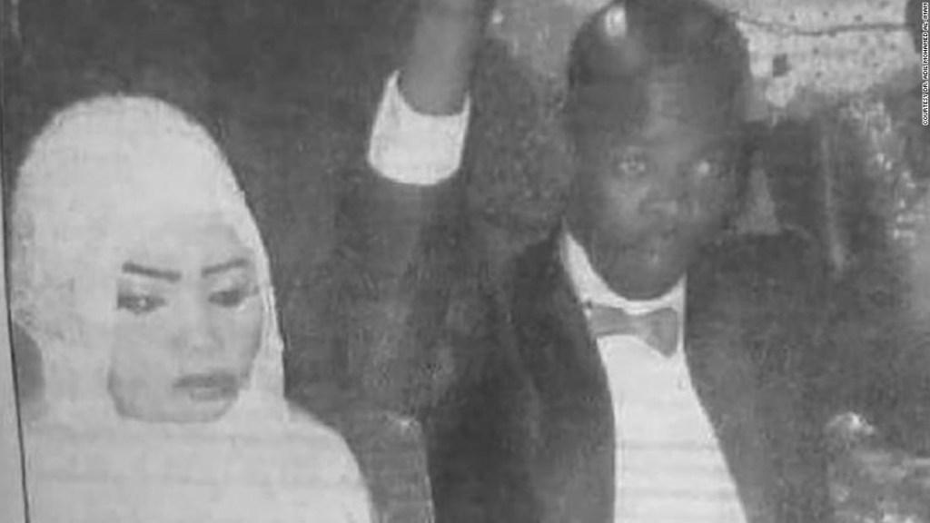 Imagen de Noura el día de su boda.