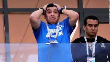 La actitud inicialmente optimista de Diego Maradona giró rápidamente cuando Argentina perdió por 3-0 ante Croacia en el Grupo D el jueves. (Crédito: Chris Brunskill/Fantasista/Getty Images)