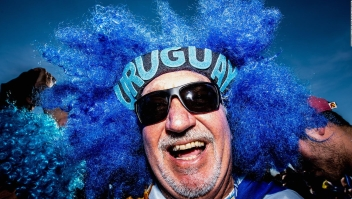 Un recorrido de los hinchas uruguayos por la copa mundialista
