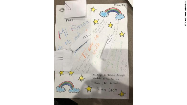 Una solicitante de asilo de Honduras le escribió esta carta a su hijo días después de separarse.