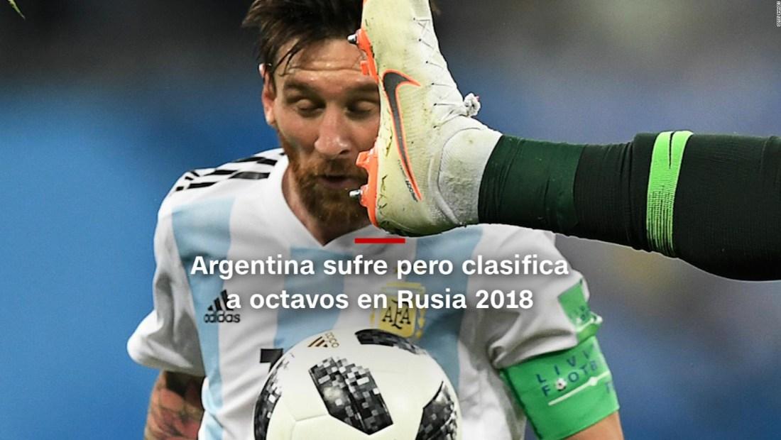 #MinutoCNN: Argentina sufre pero clasifica a octavos