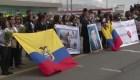 Llegan a casa restos de periodistas ecuatorianos asesinados