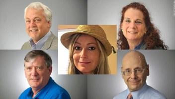 Víctimas mortales del tiroteo en el periódico Capital Gazette de Annapolis, Maryland.