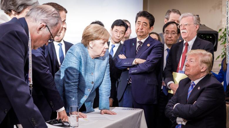 Los líderes del G7 durante la cumbre de este fin de semana.