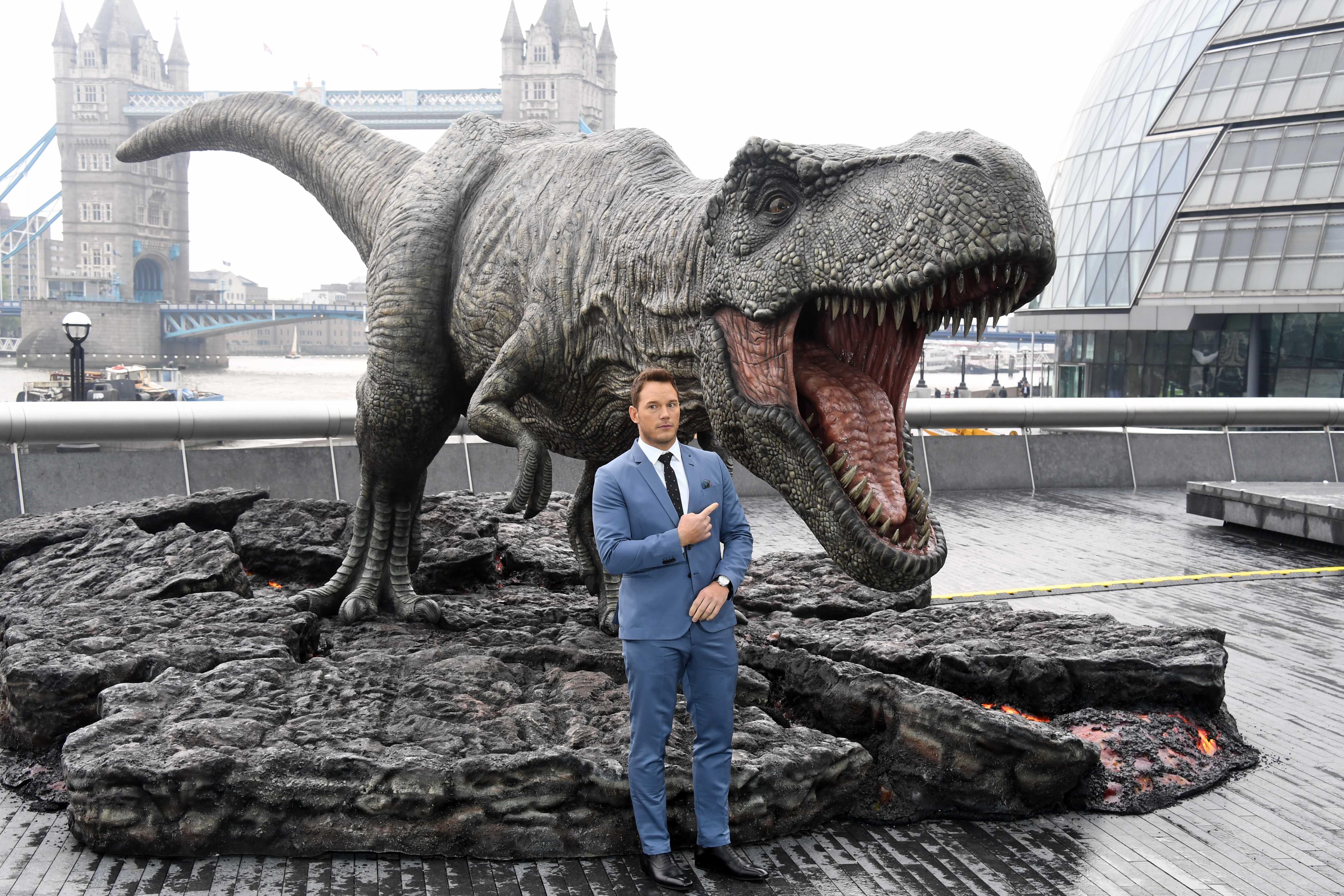 El actor Chris Pratt durante la presentación de su última pelícuklam 'Jurassic World: Fallen Kingdom' en Londres el 24 de mayo. (Crédito: Stuart C. Wilson/Getty Images)
