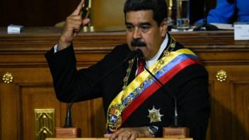Nicolás Maduro, presidente de Venezuela, durante un discurso en el Congreso el 24 de mayo. (Crédito: FEDERICO PARRA/AFP/Getty Images)