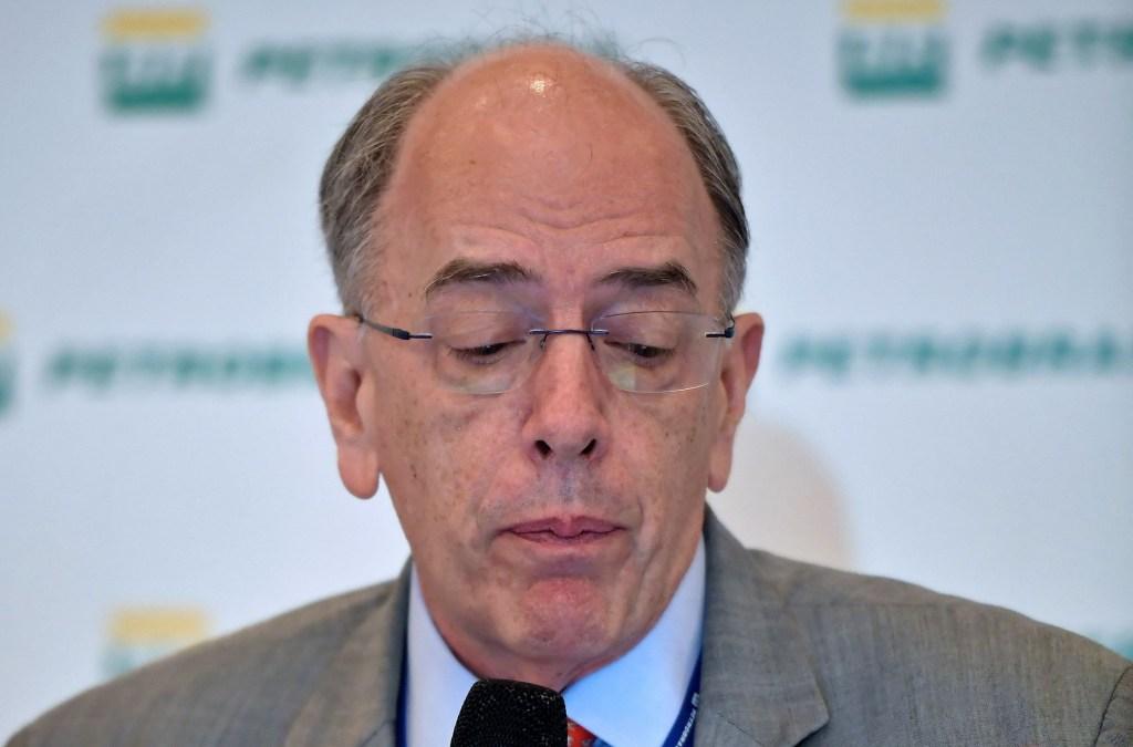 Pedro Parente, expresidente de Petrobras, durante una rueda de prensa a principios de mayo. (Crédito: CARL DE SOUZA/AFP/Getty Images)