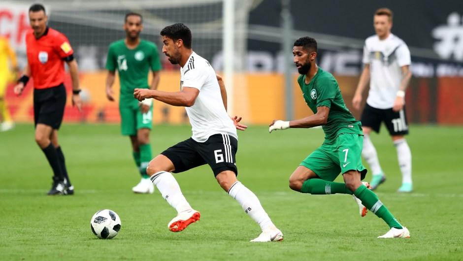 Sami Khedira es uno de los nueve jugadores de la Juventus que participará en el Mundial de Rusia 2018. En la imagen, con la Selección de Alemania en un partido amistoso contra Arabia Saudita. (Crédito: Martin Rose/Bongarts/Getty Images)