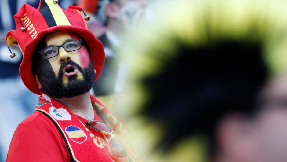 A Belgium fan waits for the Russia 2018 World Cup Group G football match between Belgium and Panama at the Fisht Stadium in Sochi on June 18, 2018. (Photo by Adrian DENNIS / AFP) / RESTRICTED TO EDITORIAL USE - NO MOBILE PUSH ALERTS/DOWNLOADS (Photo credit should read ADRIAN DENNIS/AFP/Getty Images)