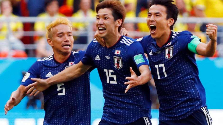 Japón sorprende a Colombia y gana 2-1 en su primer partido del grupo H
