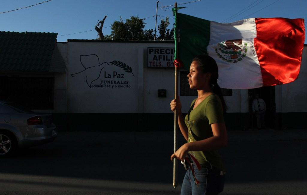 Manifestación contra la violencia en Ciudad Juarez, México, el 23 de junio de 2018. (Crédito: HERIKA MARTINEZ/AFP/Getty Images)
