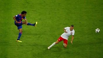 Uno de los goles de la victoria de Colombia ante Polonia fue el de José Cuadrado. (Crédito: Julian Finney/Getty Images)
