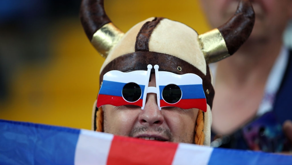 ROSTOV-ON-DON, RUSSIA - JUNE 26: A fan looks on prior to the 2018 FIFA World Cup Russia group D match between Iceland and Croatia at Rostov Arena on June 26, 2018 in Rostov-on-Don, Russia. (Photo by Clive Brunskill/Getty Images)