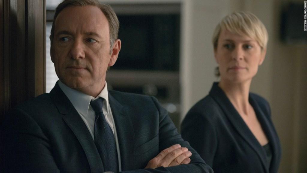 "Fotograma de ""House of Cards"" con Kevin Spacey y Robin Wright."