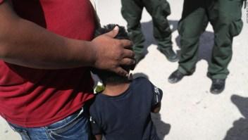 Familia de inmigrantes en junio en Texas
